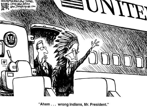 George W. Bush in Indien