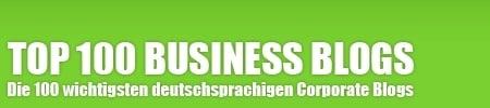 Top 100 der deutschsprachigen Business Blogs - Übersicht Blogs in Österreich