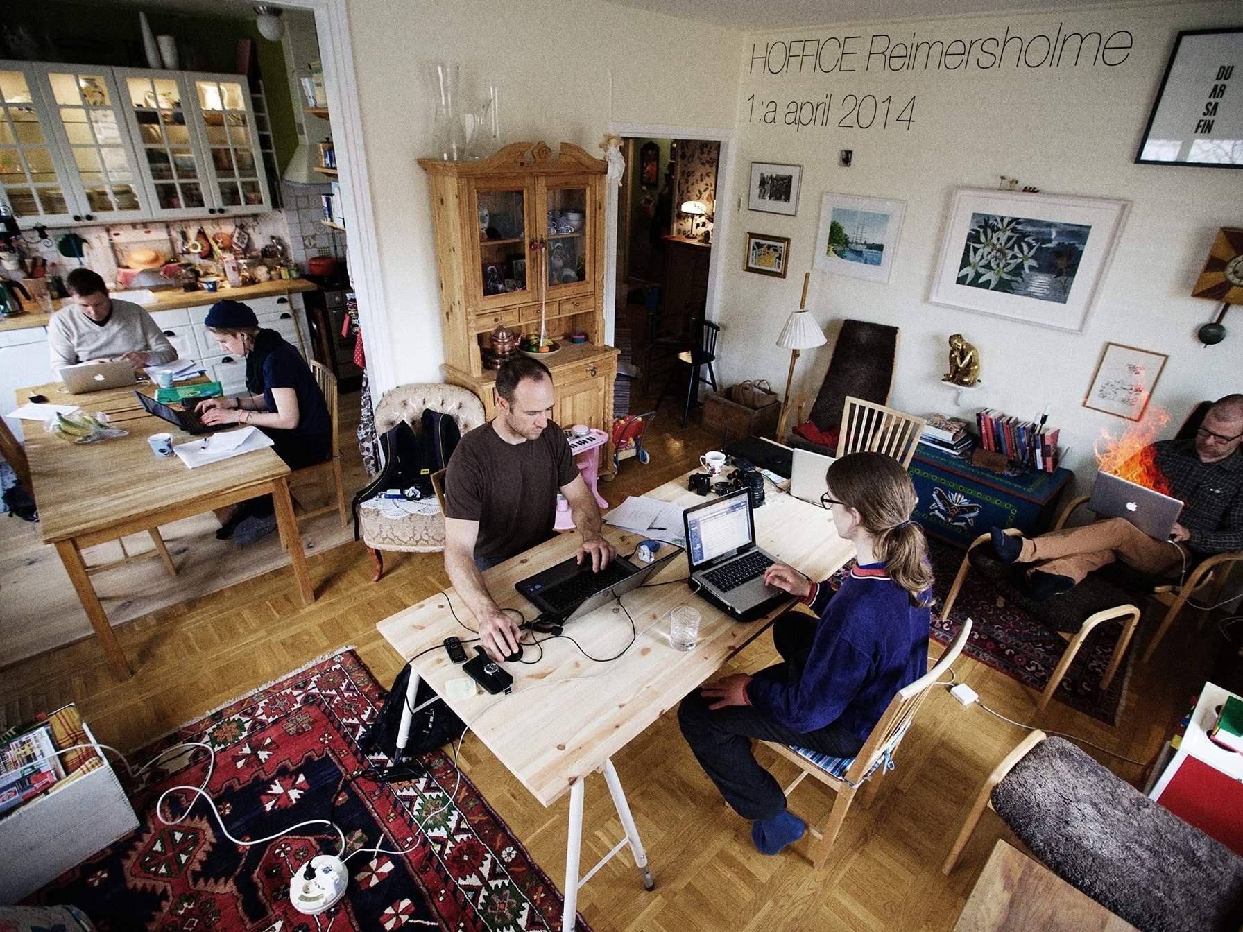 Kostenloser Arbeitsplatz in der Wohnung nebenan. Hoffice – das AirBnB für Coworking Spaces.