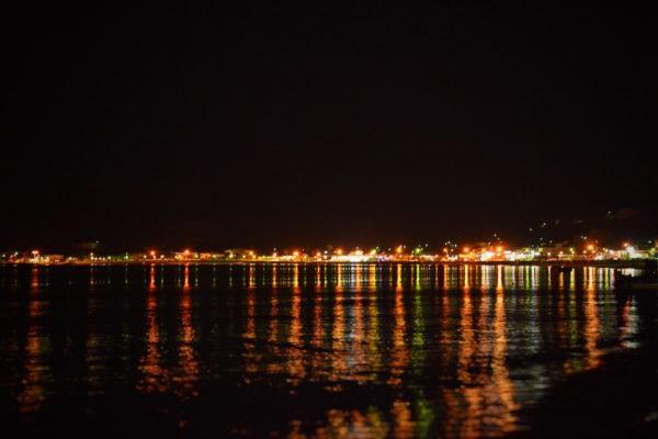 Kefalos bei Nacht – Blick vom Appartement