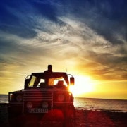 Sonnenuntergang Jeep Safari