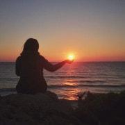 Sonnenuntergang Theologos Beach