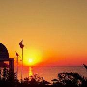 Sonnenuntergang vor deinem Appartement