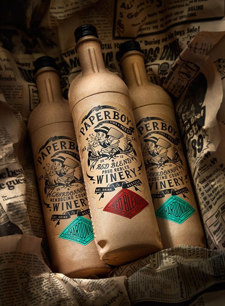 Ein Wein der alle Regeln bricht. // Innovative Weinflasche aus Karton.