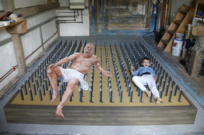 50 grandiose strassenmalereien in 3d for Ilusiones opticas en el suelo
