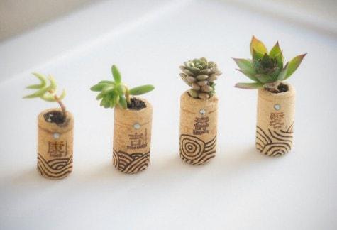 Mini Vasen aus Kork