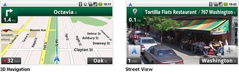 Google GPS: Turn by Turn Navigation am Android Handy