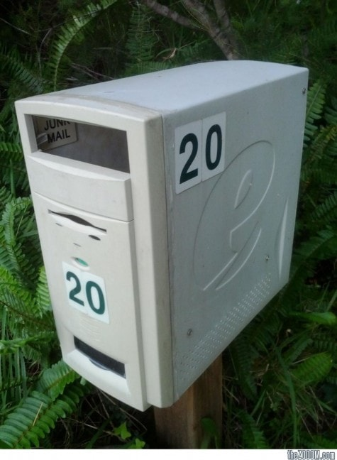 Recycled-Computer-Mailbox