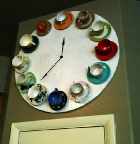 Teetassen-Uhr