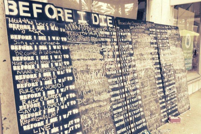 Bevor ich sterbe… Social Media für die Straße