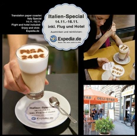 Werbung im Kaffee – kreatives Guerilla Marketing