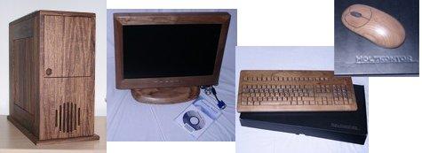 Computer aus Holz