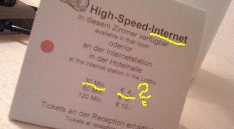 4 Euro – So viel kosten 30min Internet!