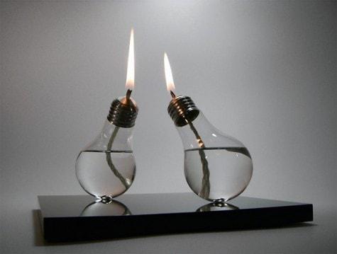 Lampe aus Glühbirnen