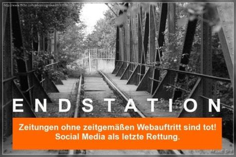 Untergang der Medienbranche?! Twitter, Facebook & Co als Retter des Papiers.
