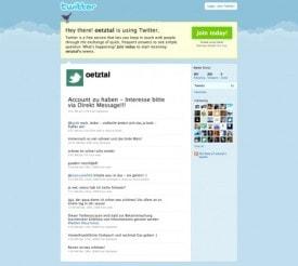 Twitter Oetztal - Brand Hijacking